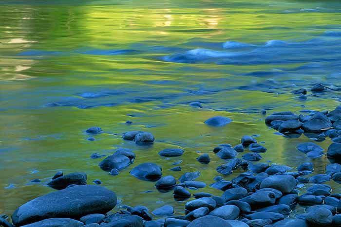 Reflections in the Elwha River, Olympic National Park, Washington # 1387