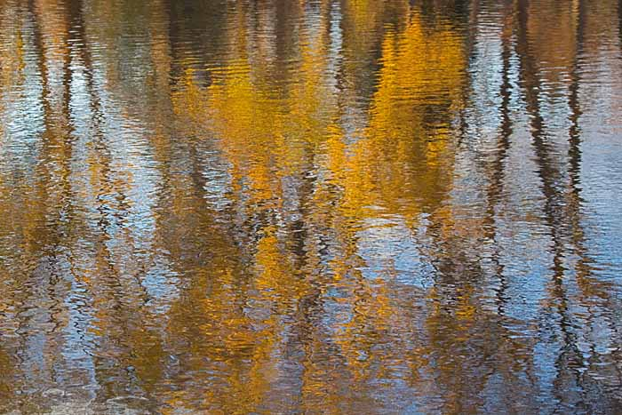 Spokane River reflections, Washington # 5034b