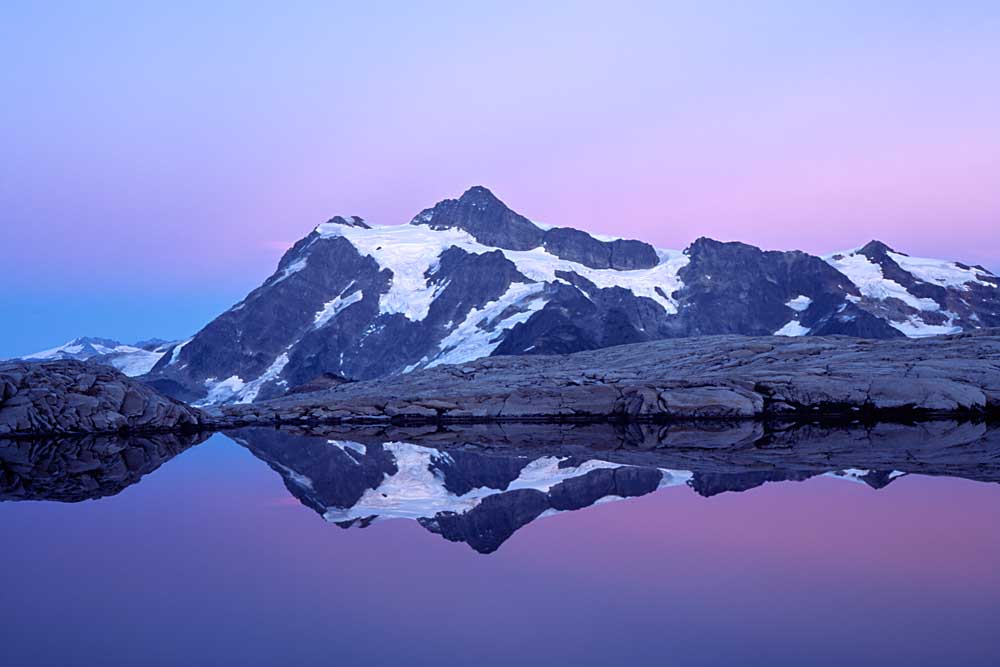 Mt. Shuksan from Mt. Baker Wilderness, North Cascades National Park, Washington # 1264-h