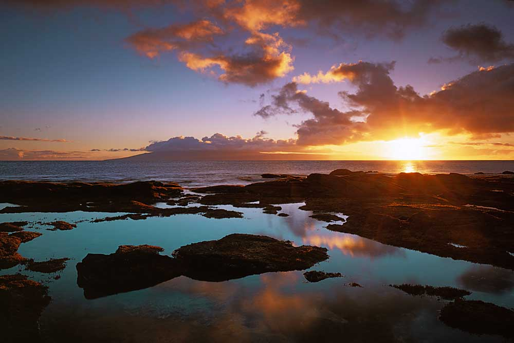Sunset from Napili Point, Maui, Hawaii # 2416