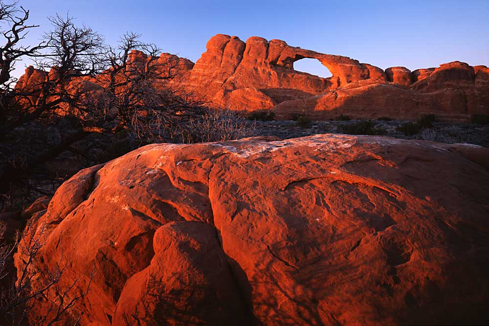 Boulder below Skyline Arch, National Park, Arches, Utah # 3163