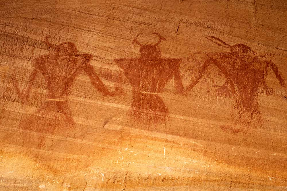 Anasazi Pictographs, Grand Staircase-Escalante National Monument, Utah # 32761