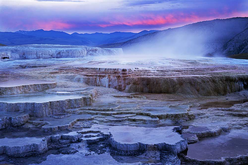 Mammoth Hot Springs, Yellowstone National Park, Wyoming # 4090