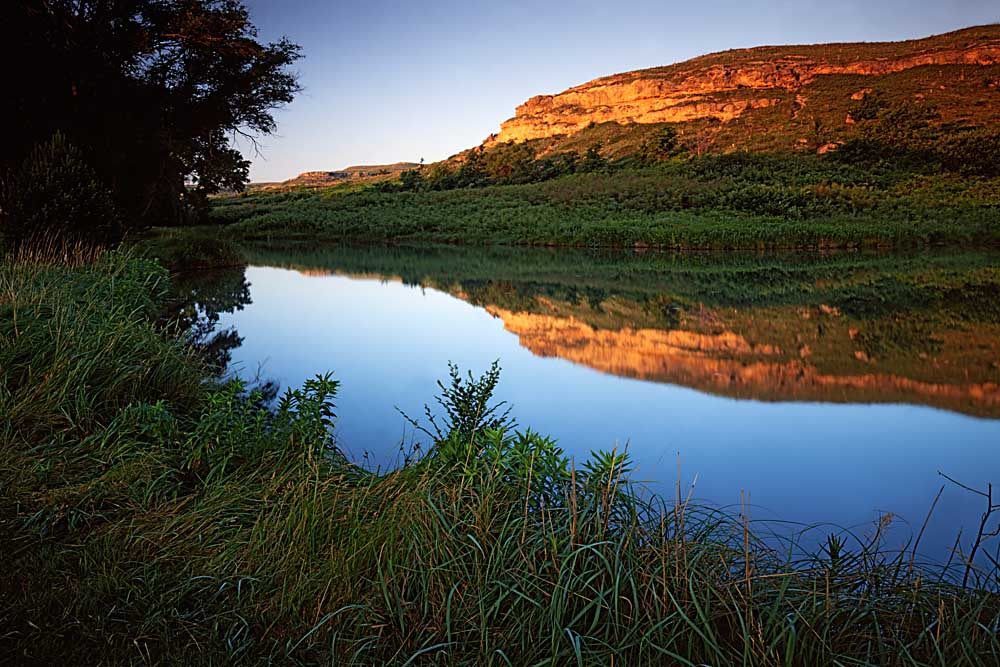 Big Springs at sunrise, Lake Scott State Park, Kansas # 6406