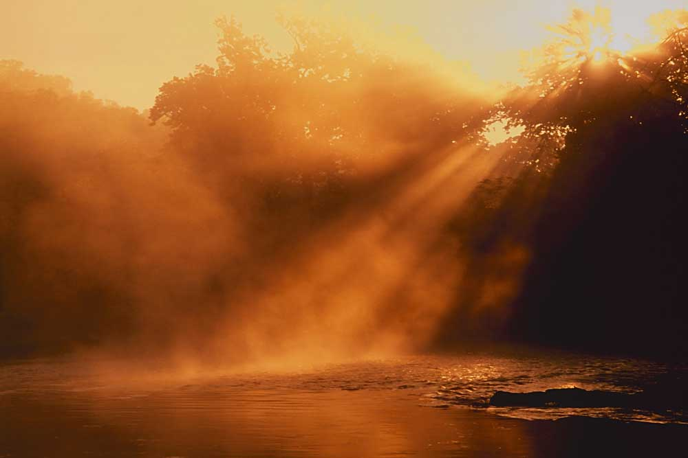 Sunrise on Big Piney River, Mark Twain National Forest, Missouri # 7725-h