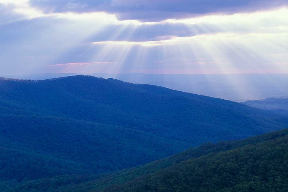 Sunrise over Buck Hollow, Shenandoah National Park, Virginia # 9565