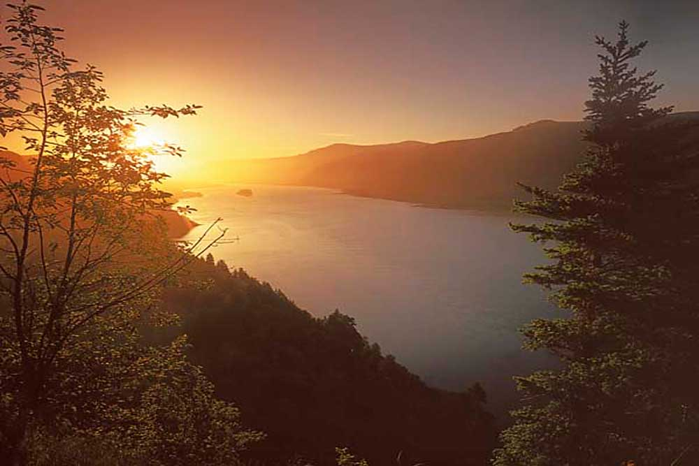 Sunrise, Columbia River, Columbia River Gorge National Scenic Area, Washington # 1466h