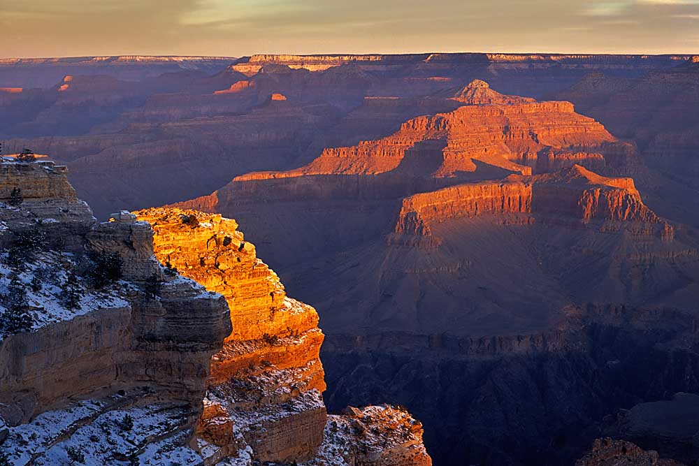 Winter sunrise from Hopi Point, Grand Canyon National Park, Arizona # 6009h