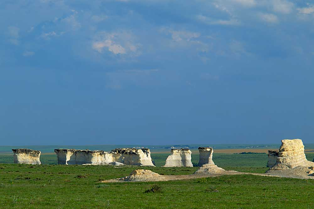 The Chalk Pyramids at Monument Rocks Natural Area, Kansas # 6405
