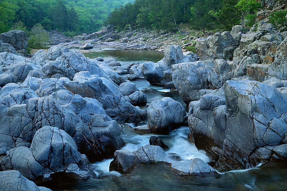 The East Fork of the Black River, Johnson's Shut-ins St. Pk., Missouri # 7017