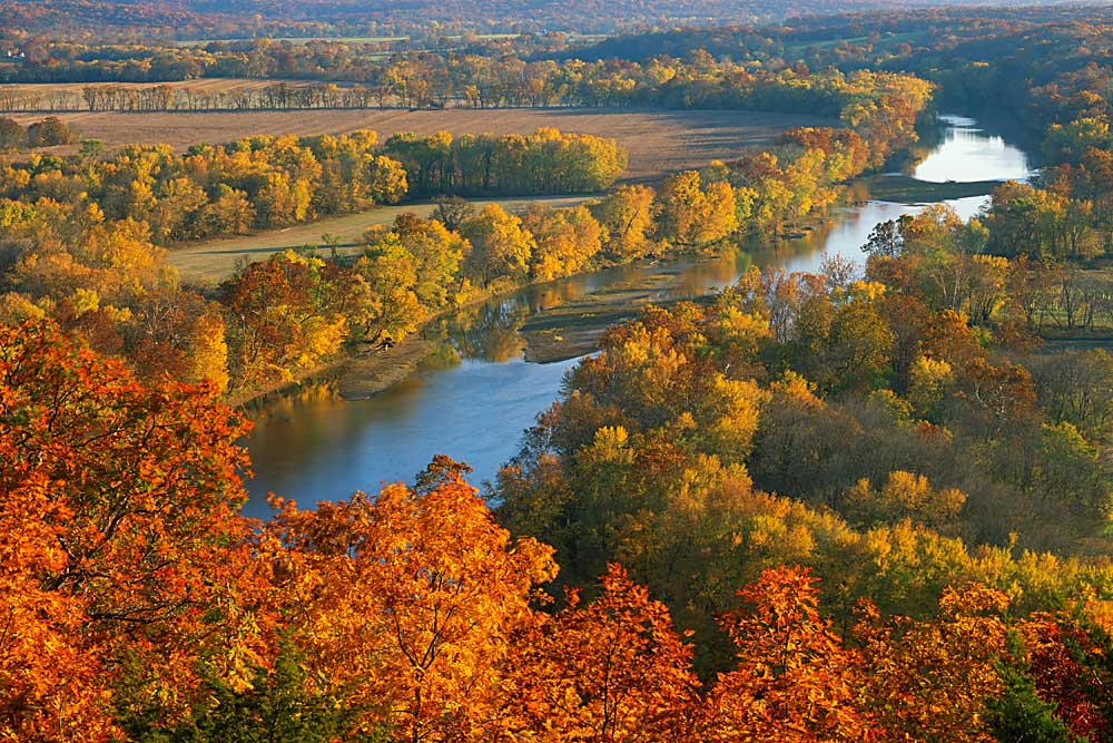Autumn on the Gasconade River, Gasconade County, Missouri # 7583