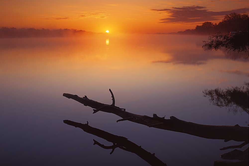 Sunrise on the Mississippi River, Near St. Charles, Missouri # 7611