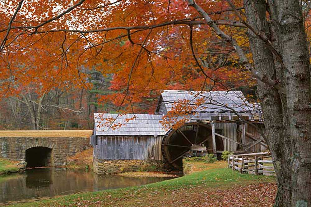 Autumn at Mabry Mill, Blue Ridge Parkway, Virginia # 9441h