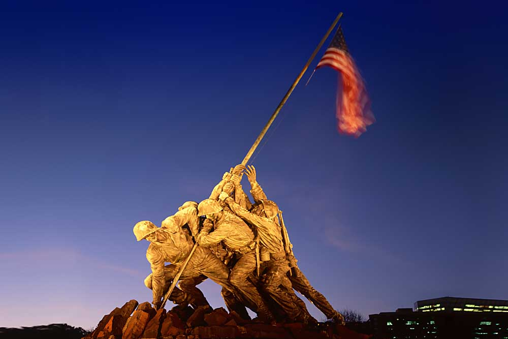 Arlington, Iwo Jima Memorial, U.S. Marine Corps War Memorial, Virginia # 9787h